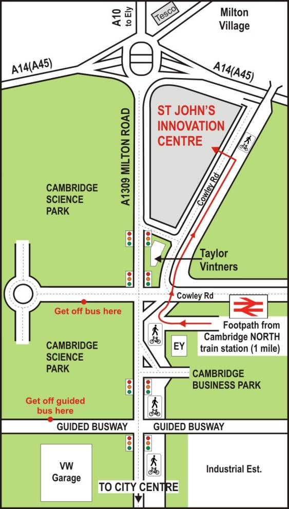 Map to Innovation Centre