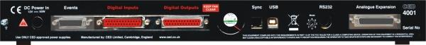 Power1401 rear panel Digital I/O